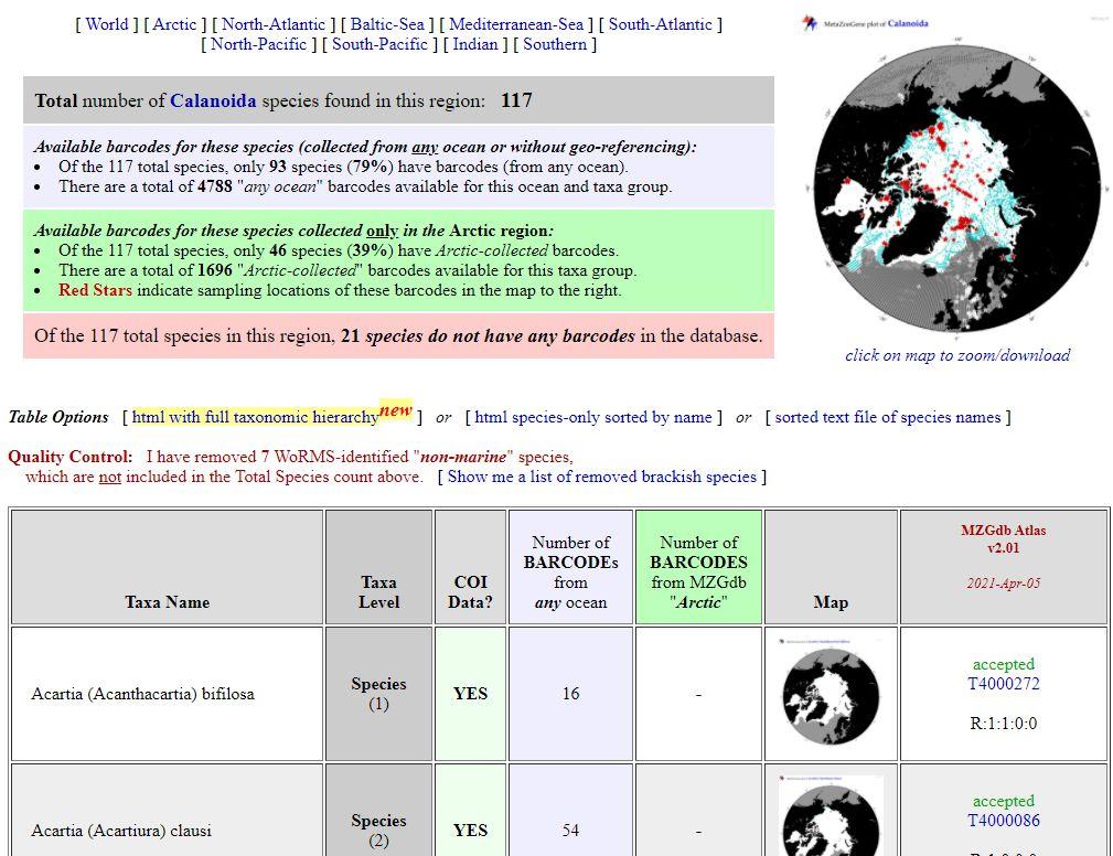Screenshot of the MZGdb interface main menu
